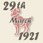 Aries, 29. March 1921.