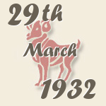 Aries, 29. March 1932.
