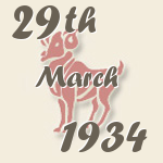 Aries, 29. March 1934.