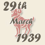 Aries, 29. March 1939.