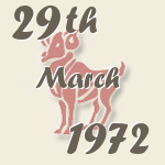 Aries, 29. March 1972.