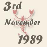 3 November