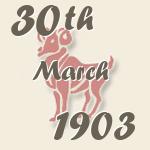 Aries, 30. March 1903.