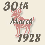 Aries, 30. March 1928.