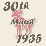 Aries, 30. March 1935.