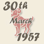 Aries, 30. March 1957.