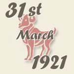 Aries, 31. March 1921.