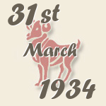 Aries, 31. March 1934.