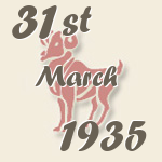 Aries, 31. March 1935.