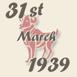 Aries, 31. March 1939.