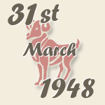 Aries, 31. March 1948.