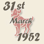 Aries, 31. March 1952.